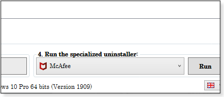 Run the specialized uninstaller option
