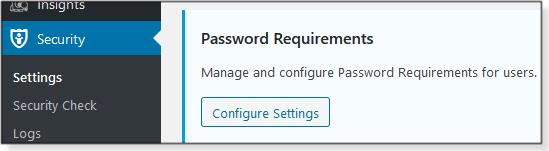 WP password controls