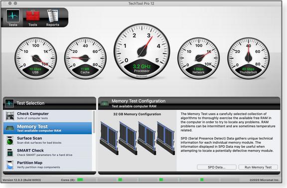 TechTool Pro stats console
