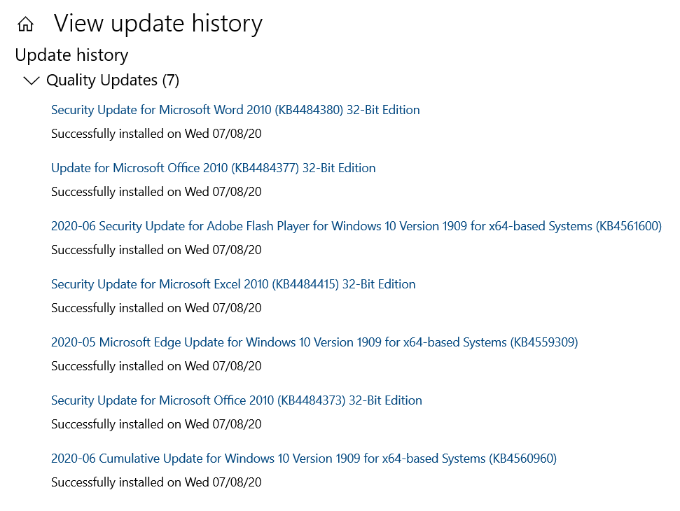 update-history