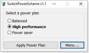 SwitchPowerScheme main menu
