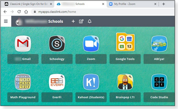 School district's online-learning dashboard