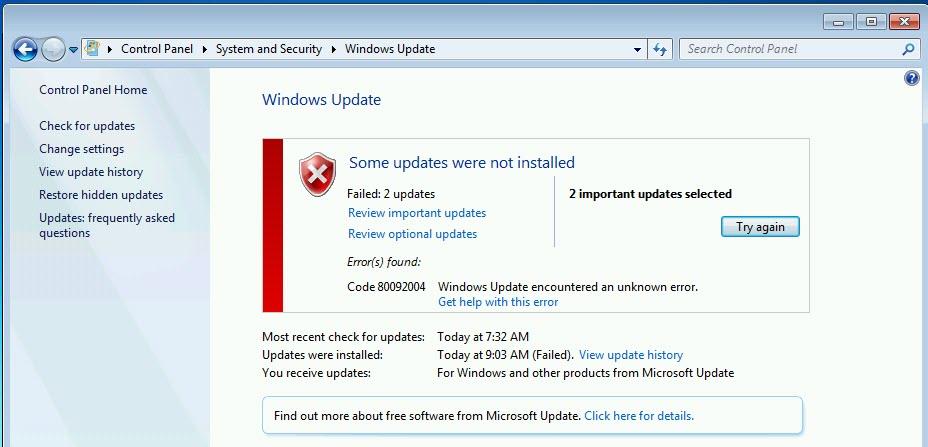 windows 7 keeps updating