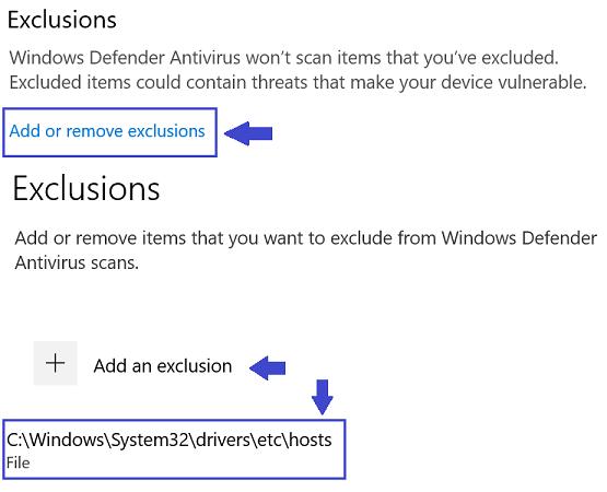 WindowsDefender-hosts_exclusionRule