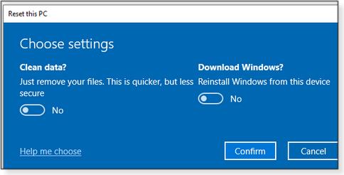 New Reset options