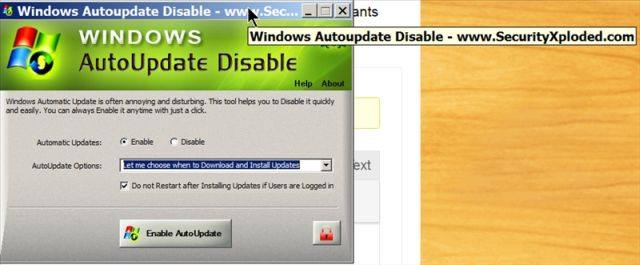 WindowsUpdateDisAble