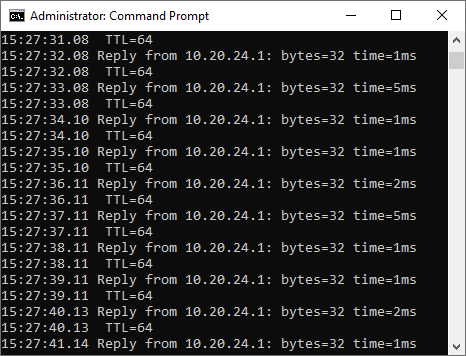 pinger-with-timestamp