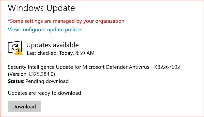 Defender-Update