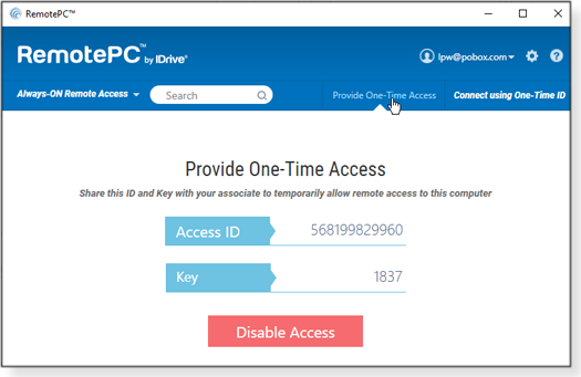 One-Time Access
