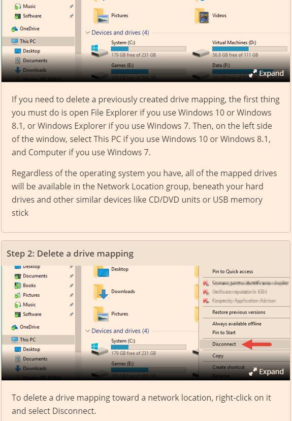 Disconnect-shared-folder