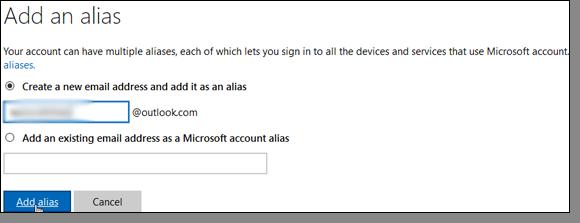Add an Alias