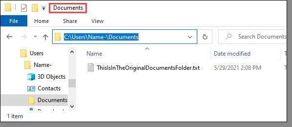 Original Documents folder