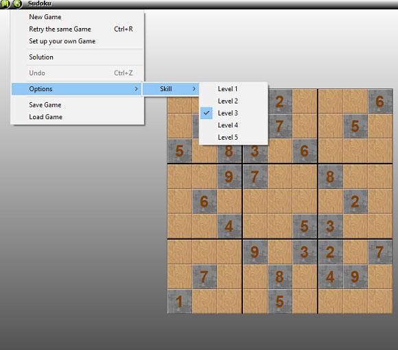 Sudoku has several options