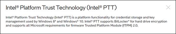 Explanation of Intel PTT
