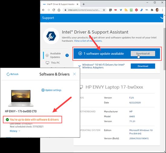 HP and Intel diisagree on updates