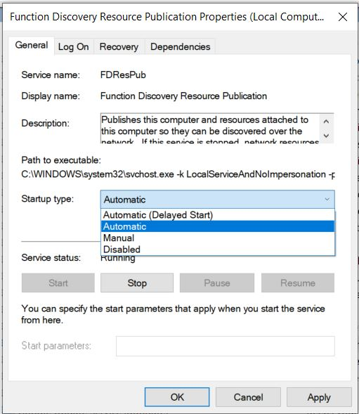 Services-Settings