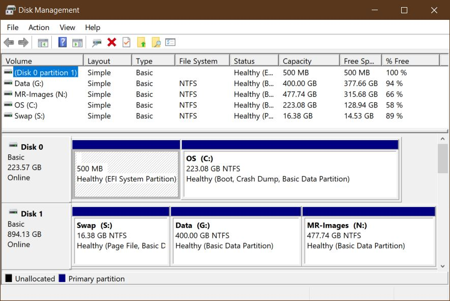 Dell-XPS-8700-Disk-Structure