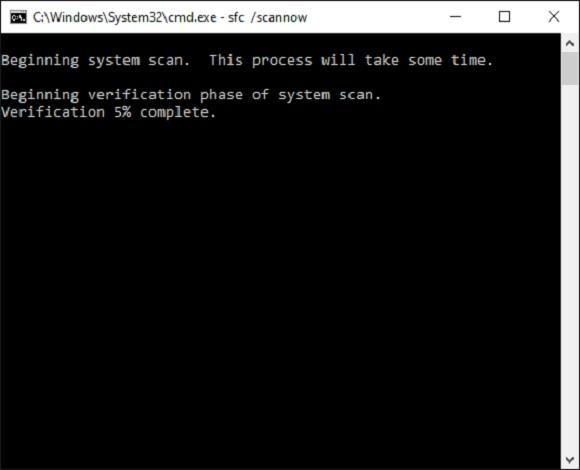 SFC running a scan