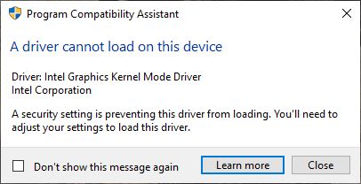 Dell137000DriverWontLoad