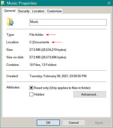 FolderProperties