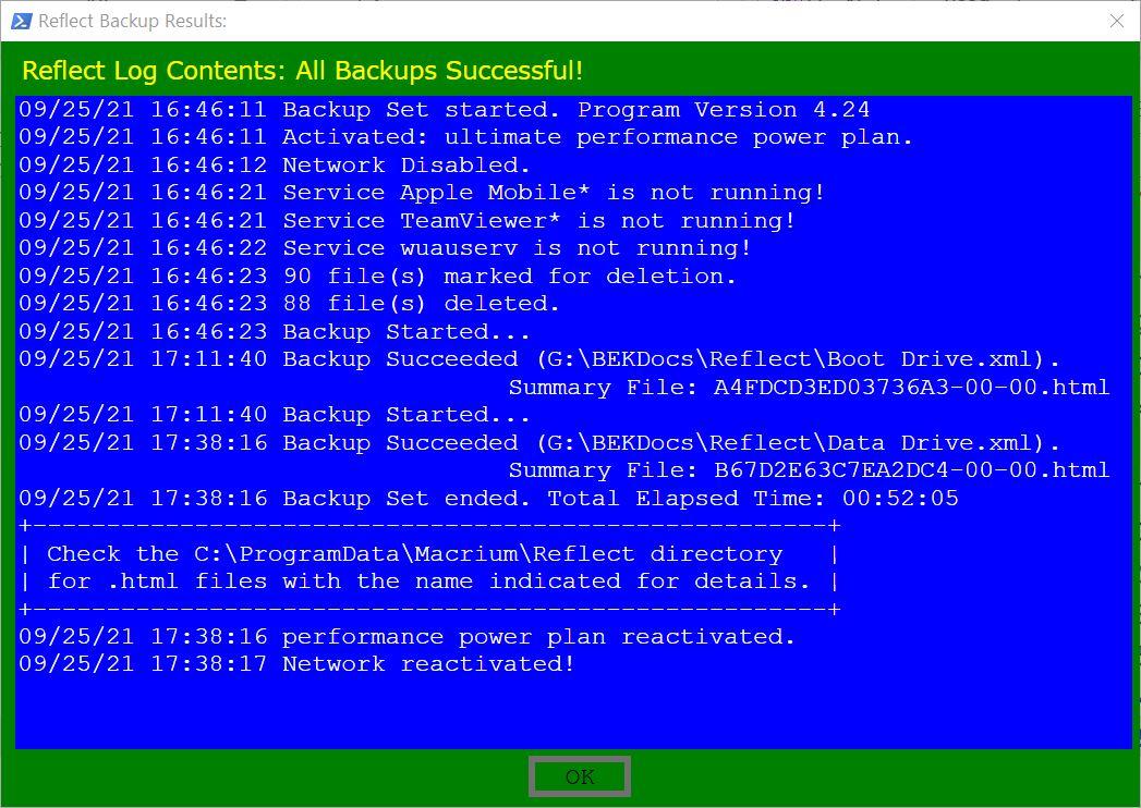 Macrium-Backup-Report