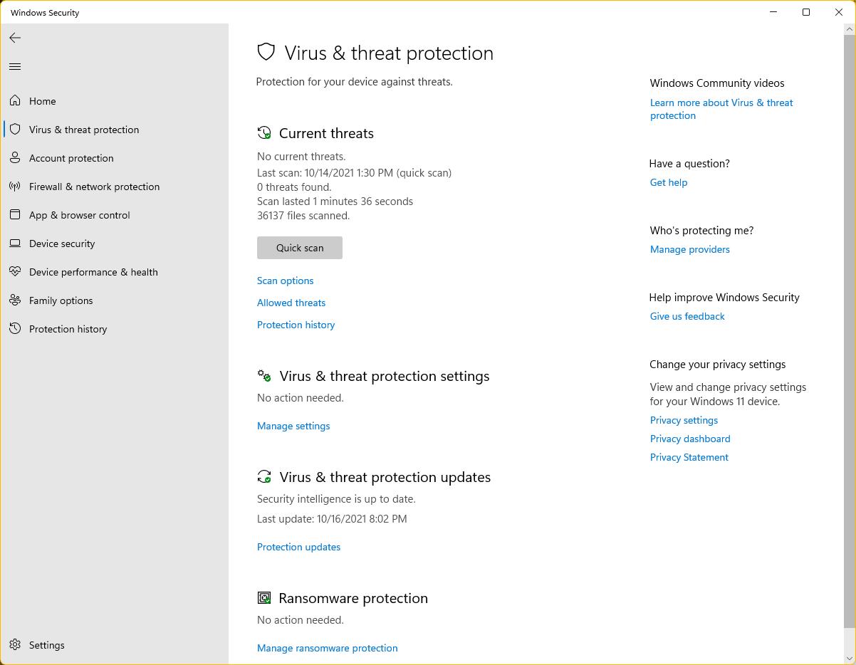 Open-Windows-Security-Virus-threat-protection