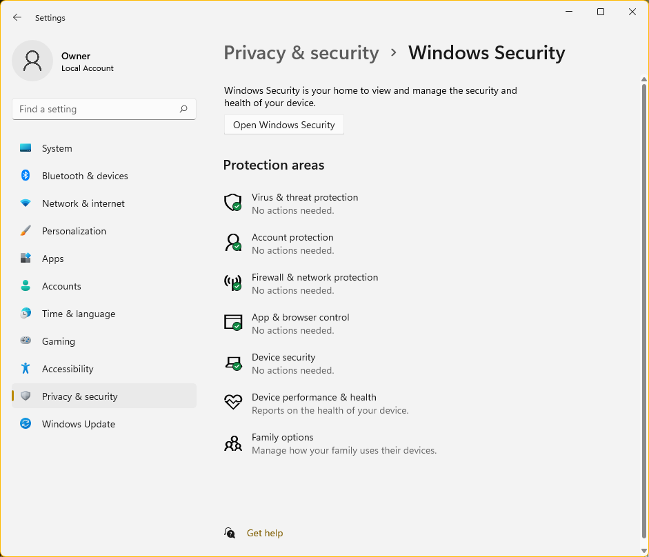 Privacy-security-Windows-Security