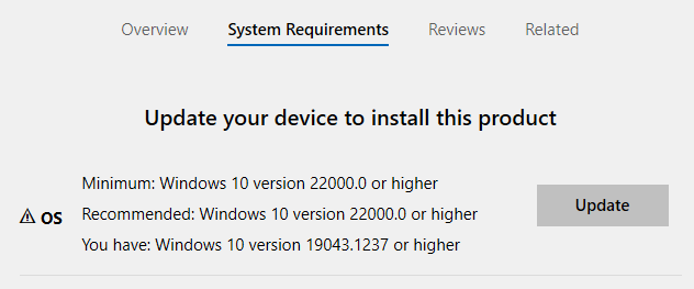 WSL System Requirements