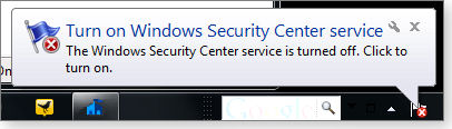 compromised security center