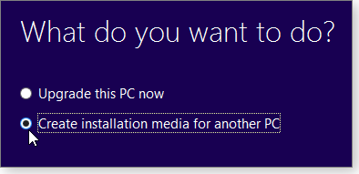 Create installation media